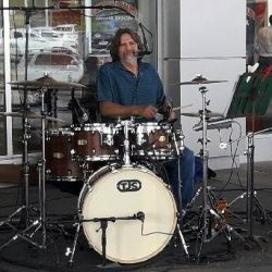Rob Valichnac with his new set of TJS Custom Drums.