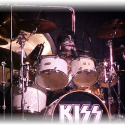 David Schreck in KISS tribute band and his TJS Custom Drums